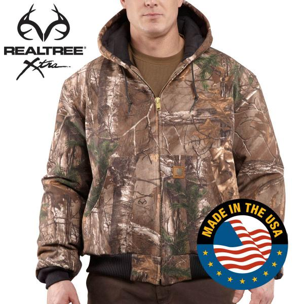 Carhartt Men's Quilted-Flannel Lined WorkCamo Active Jac - Discontinued Pricing