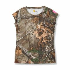 Girls' Force Short Sleeve Camo Top