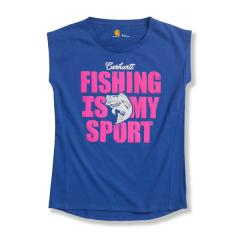 Girls' Fishing is My Sport Cap Sleeve T-Shirt