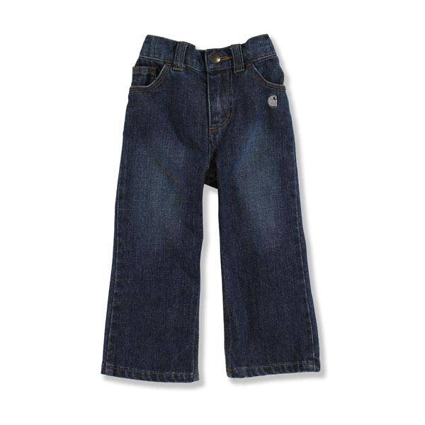 Carhartt Infant and Toddler Girls' Washed 5 Pocket Denim Jean