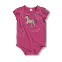 Infant Girls' Tulip Sleeve Horse Bodyshirt