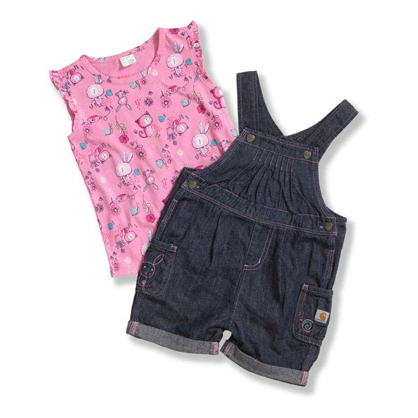 Carhartt Toddler Girls' Washed Denim Shortall Set