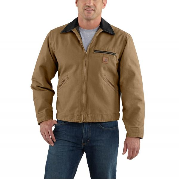 Carhartt Men's Sandstone Detroit Jacket - Blanket Lined- Discontinued Pricing