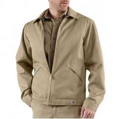 Men's Blended Twill Work Jacket - Midweight Quilt Lined - Discontinued Pricing