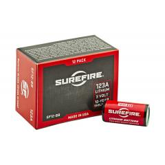 SureFire 123A Lithium Batteries - 12 Pack