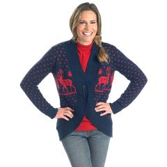 Women's Holiday Reindeer Sweater