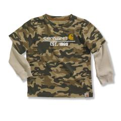 Toddler Boys' Layered Camo T-Shirt