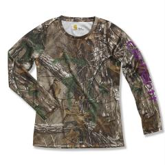 Girls' Force Long Sleeve Camo Top