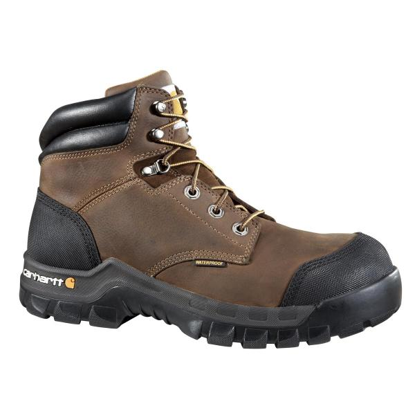 Carhartt Men's 6 Inch Rugged Flex Waterproof Boot Composite Toe