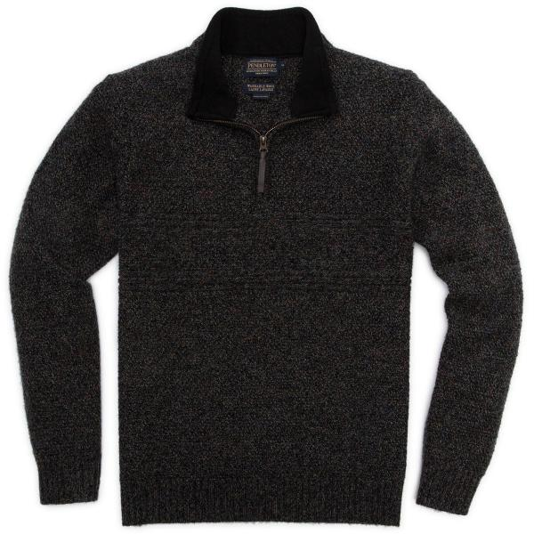 Pendleton Men's Shetland Half Zip Sweater-discontinued