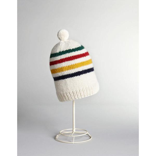Hudsons Bay Multi Stripe Handknit Toque