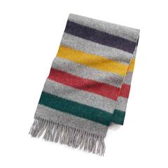 Hudsons Bay Everyday Wool Scarf Charcoal Multi
