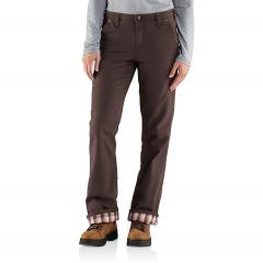 Women's Relaxed-Fit Canvas Flannel-Lined Fulton Pant