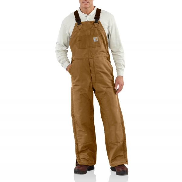 Carhartt Men's Flame Resistant Duck Bib Lined Overall