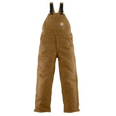 Carhartt Men's Flame Resistant Canvas Bib Lined Overall - Discontinued Pricing