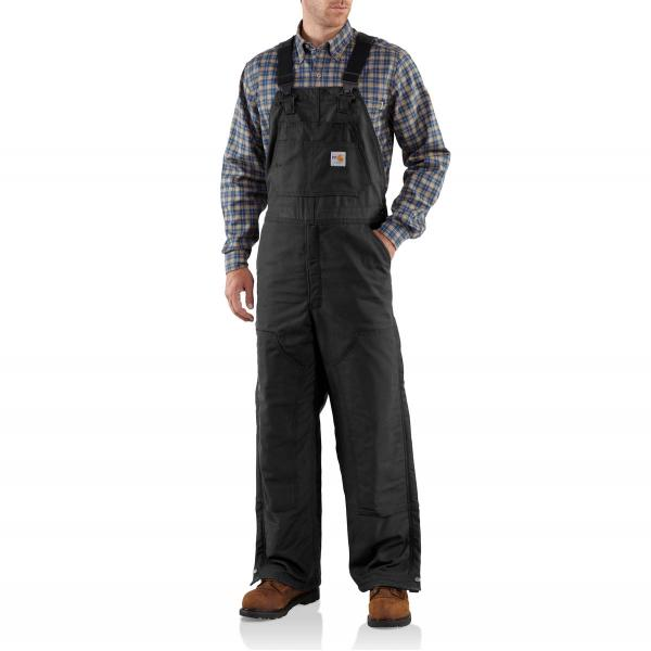 Carhartt Men's Flame Resistant Canvas Bib Lined Overall