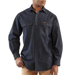 Men's Washed Denim Work Shirt - Discontinued Pricing