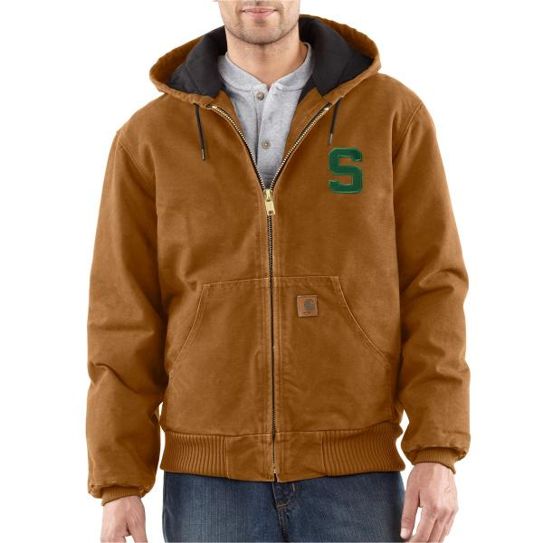 Carhartt Men's Michigan State QFL Sandstone Active Jacket