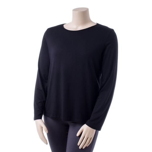Comfy USA Women's Long Sleeve Scoop Neck Tee Extended Size