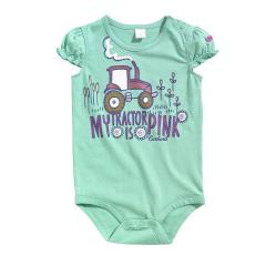 Infant Girls' Pink Tractor Bodyshirt