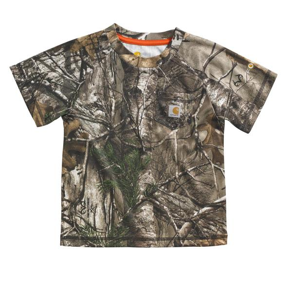 Carhartt Infant and Toddler Boys' Force Camo Pocket Tee