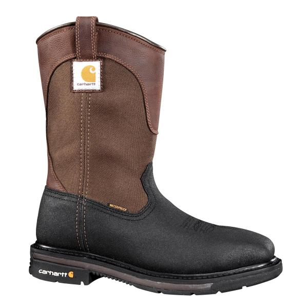 Carhartt Men's 11 Inch Square Toe Waterproof Wellington Steel Toe