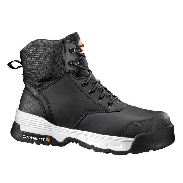 Carhartt Men's 6 Inch Black Waterproof Work Boot Composite Toe