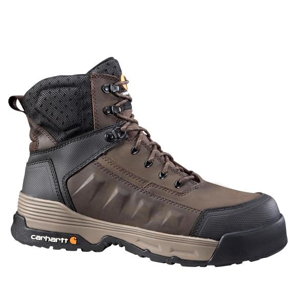 Carhartt Men's 6 Inch Dark Brown Waterproof Work Boot Composite Toe