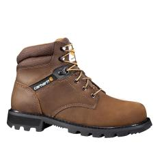 Men's 6 Inch Brown Work Boot Steel Toe