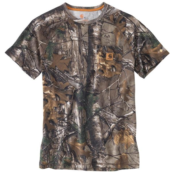 Carhartt Men's Force Cotton Delmont Camo Short Sleeve T Shirt