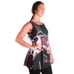 Comfy USA Women's Sleeveless Tunic Top Print