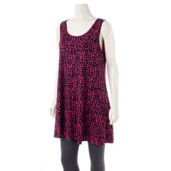 Women's Sleeveless Tunic Top Print
