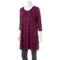Comfy USA Women's Three Quarter Sleeve Tunic Top Print