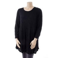 Women's Simple Long Tunic Crinkle Extended Size