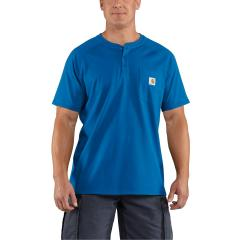 Men's Force Cotton Short-Sleeve Henley - Discontinued Pricing