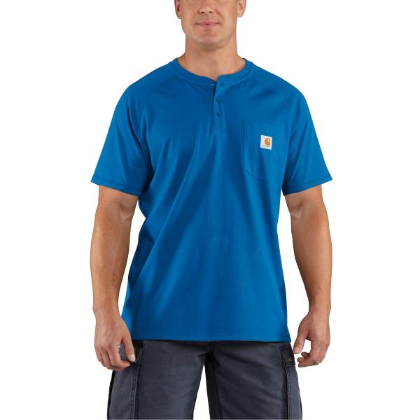 Carhartt Men's Force Cotton Short-Sleeve Henley - Discontinued Pricing