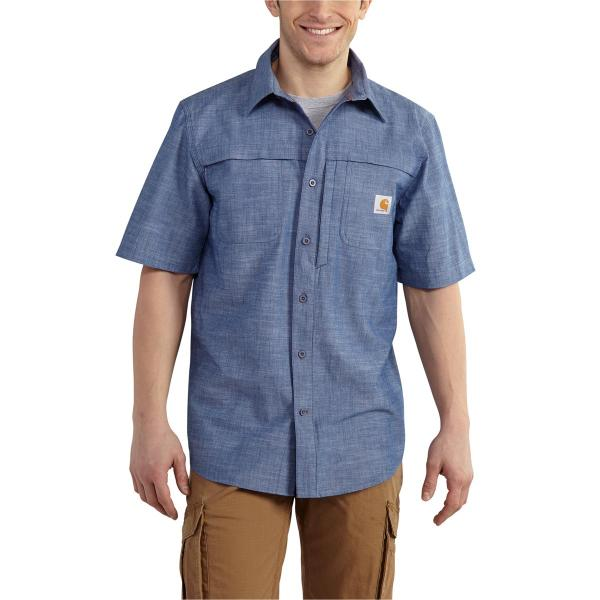 Carhartt Men's Force Mandan Chambray Short Sleeve Woven
