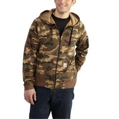 Men's Force Cotton Delmont Camo Zip Front Hoodie