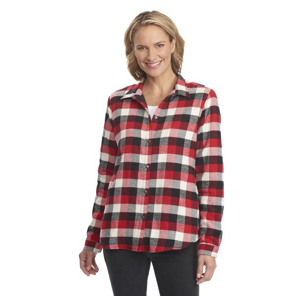 woolrich women 39 s pemberton fleece lined flannel shirt