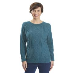 Women's Cable Mohair Sweater