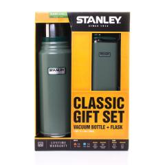Classic Vacuum Bottle 1.1 Quart + Flask Gift Set