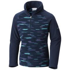 Youth Girls' Glacial II Fleece Print Half Zip