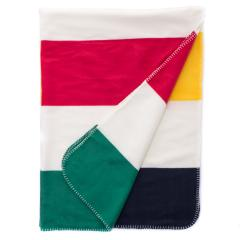 Fleece Throw Multi-All Over Stripe