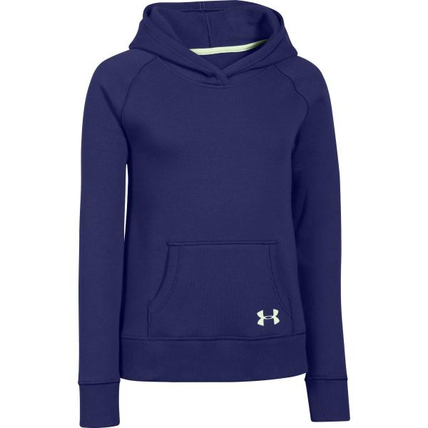 Under Armour Girls' Rival Cotton Solid Hoodie