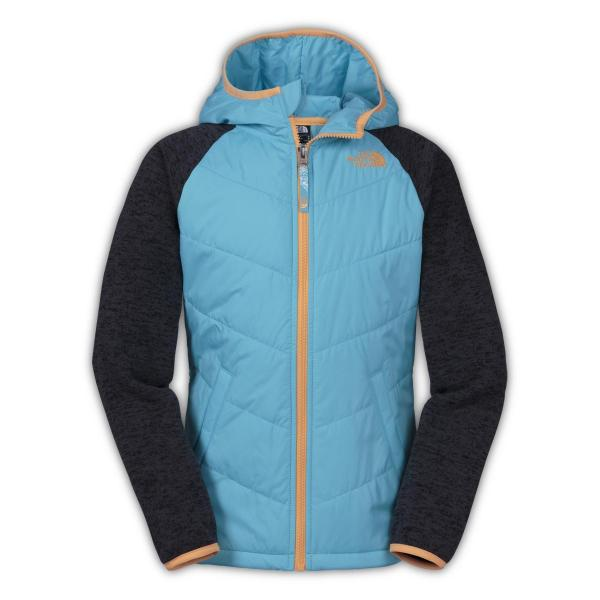 The North Face Girls' Quilted Sweater Fleece Hoodie