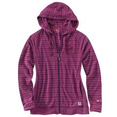 Women's Force Zip Front Hoodie Striped