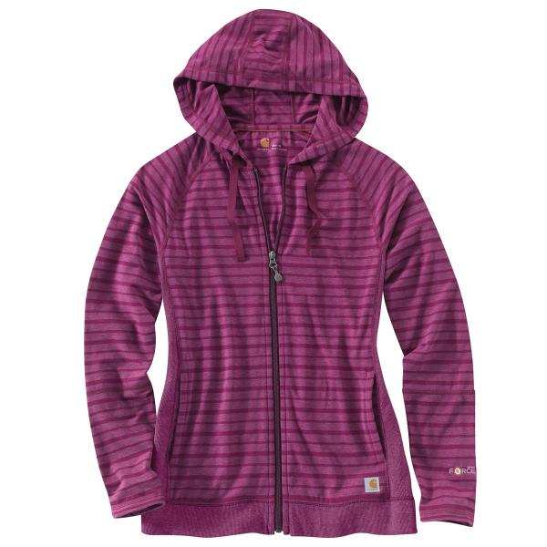 Carhartt Women's Force Zip Front Hoodie Striped