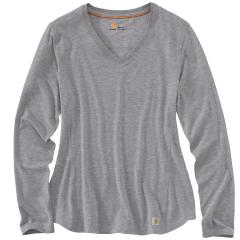 Carhartt Women's Force Long Sleeve V-Neck T-Shirt