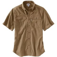 Men's Short Sleeve Solid Work Shirt