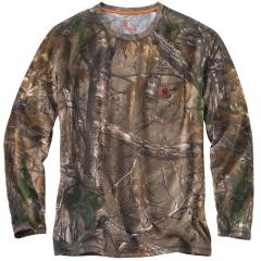 Carhartt Men's Force Cotton Delmont Camo Long Sleeve T Shirt
